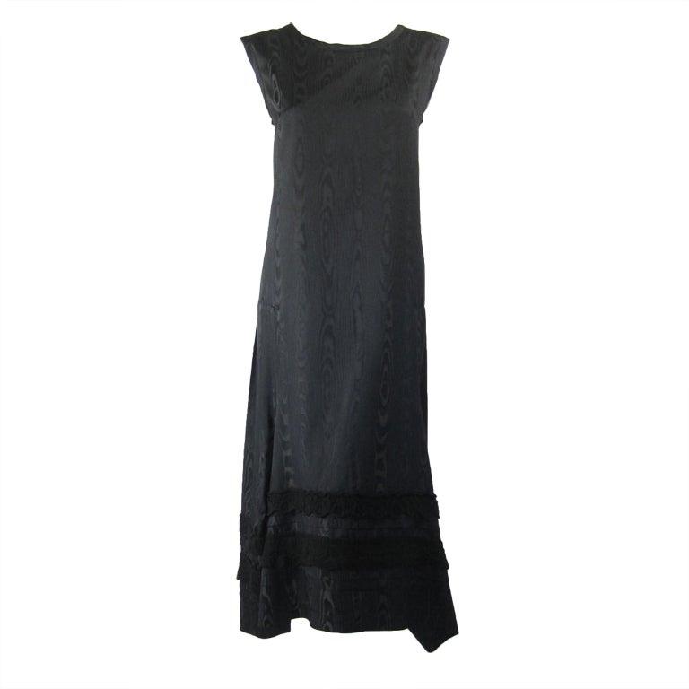 Comme des Garcons Silk Moiré Dress