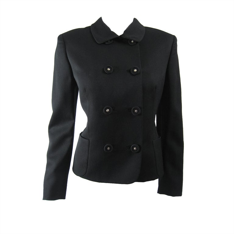 Versace Couture Double-Breasted Short Jacket