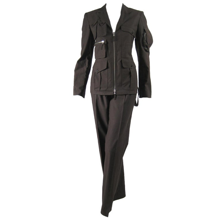 Jean Paul Gaultier Military-Inspired Trouser Suit