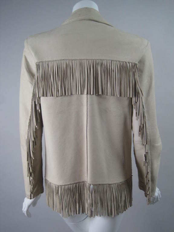 1940 S Deerskin Fringed Jacket With Beadwork At 1stdibs