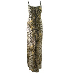 1970's Mollie Parnis Sequined Leopard Print Gown and Jacket
