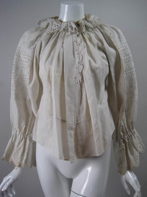 Early 20th Century Eastern European Blouse and Vest 10