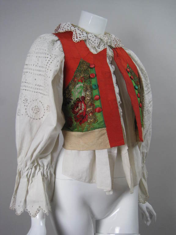 Early 20th Century Eastern European Blouse and Vest 2