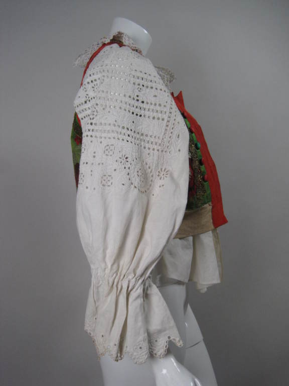 Early 20th Century Eastern European Blouse and Vest 3