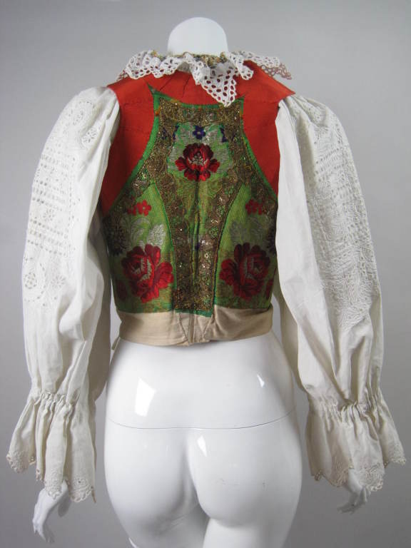 Early 20th Century Eastern European Blouse and Vest 4