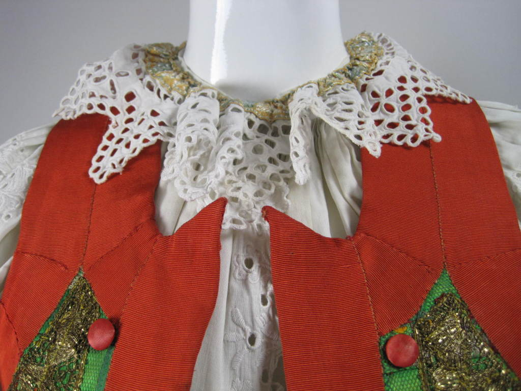 Early 20th Century Eastern European Blouse and Vest 5