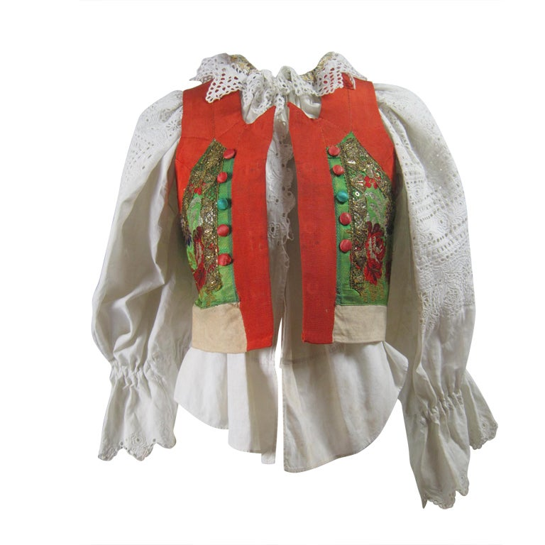 Early 20th Century Eastern European Blouse and Vest 1