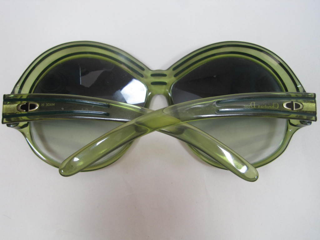 Gray 1970's Christian Dior Oversized Glasses For Sale