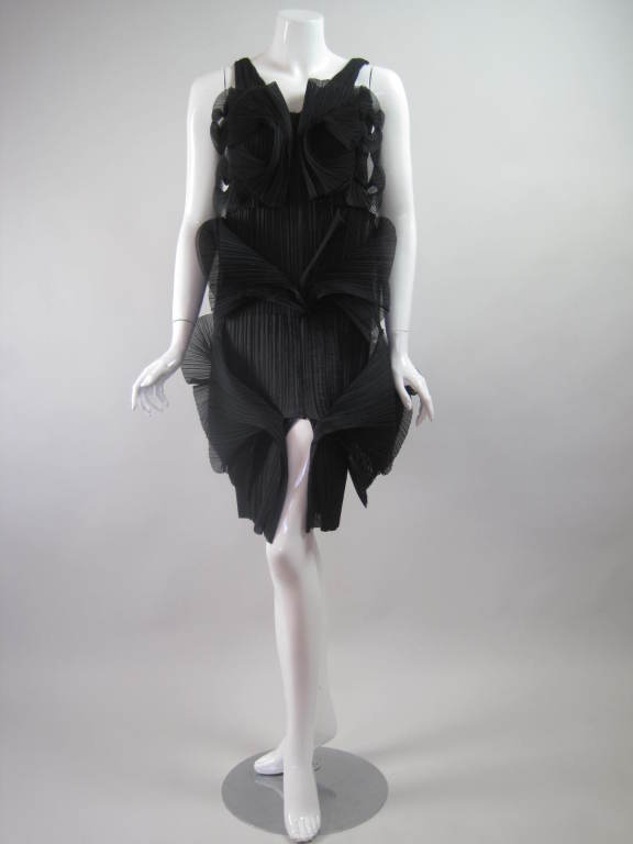 Issey Miyake Sculptural Pleated Dress 2