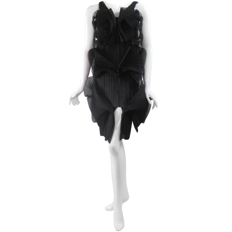 Issey Miyake Sculptural Pleated Dress 1