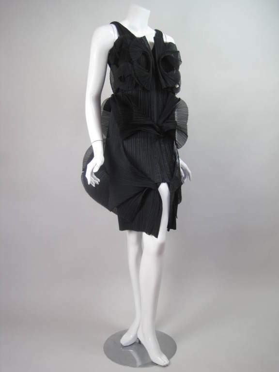 Issey Miyake Sculptural Pleated Dress 3