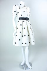 1980's Oscar De La Renta Polka-Dotted Cocktail Dress thumbnail 4