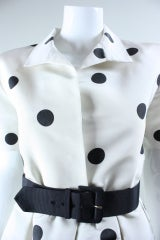 1980's Oscar De La Renta Polka-Dotted Cocktail Dress thumbnail 7