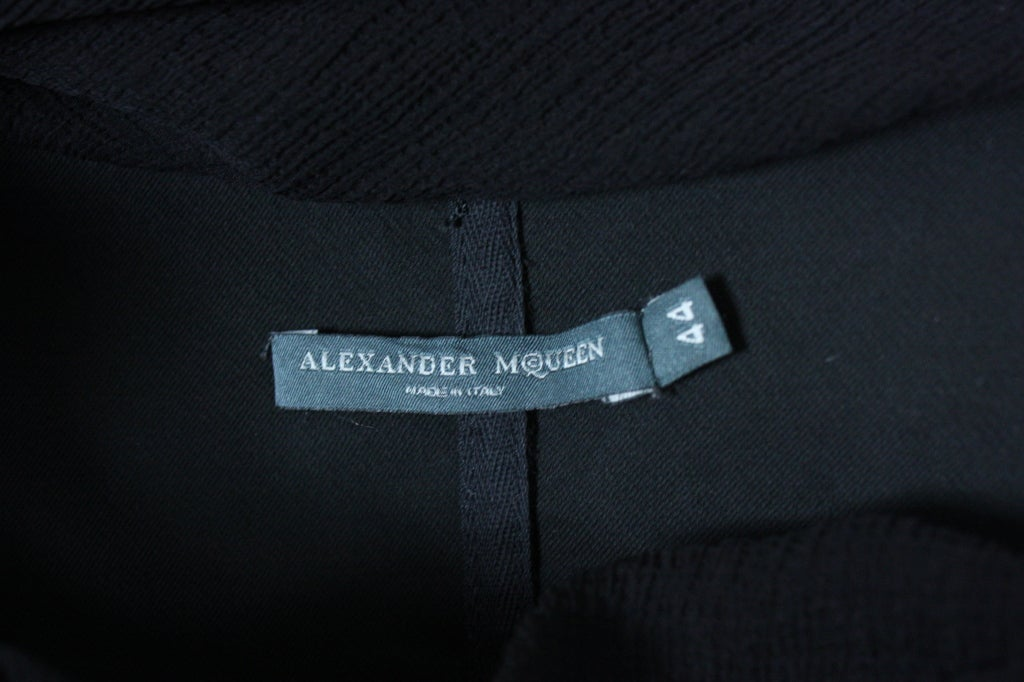 Alexander McQueen Black Chiffon Blouse or Micro Mini 8
