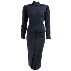 1970's Jean Muir Black Crepe Ensemble