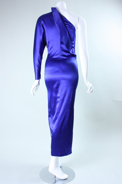 Krizia One-Sleeved Gown In Excellent Condition For Sale In Los Angeles, CA