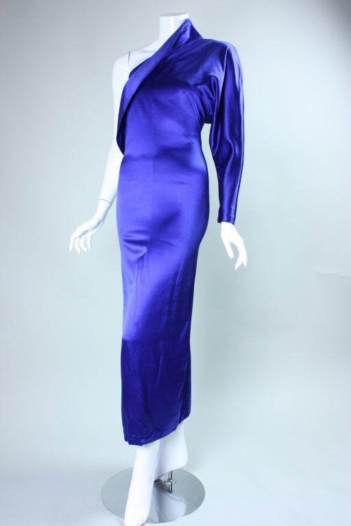 Women's Krizia One-Sleeved Gown For Sale