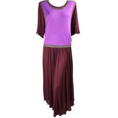 Holly's Harp Matte Jersey Grecian-Inspired Long Dress