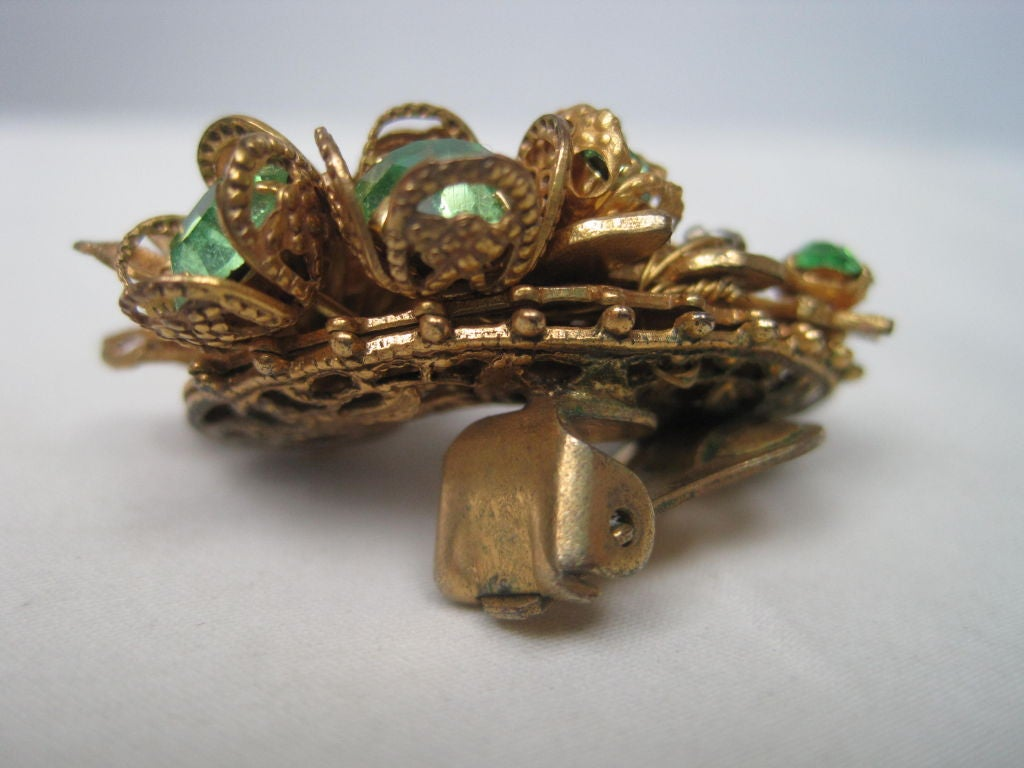 DeMario Rhinestone Filigree Earrings 3