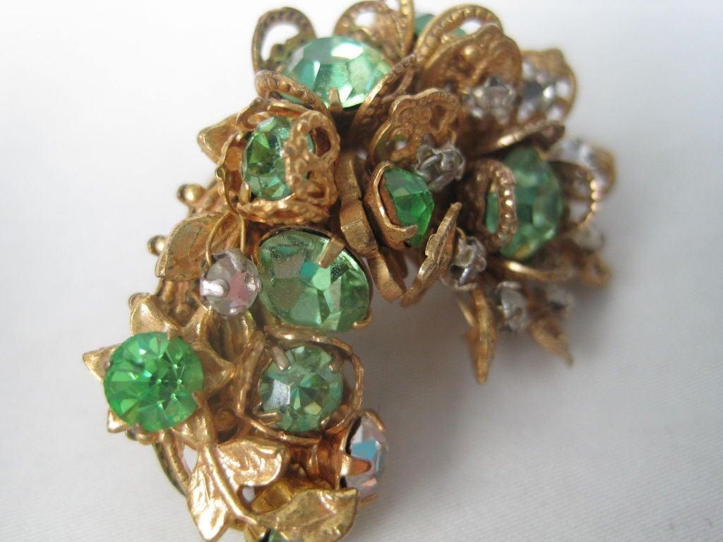 DeMario Rhinestone Filigree Earrings 4