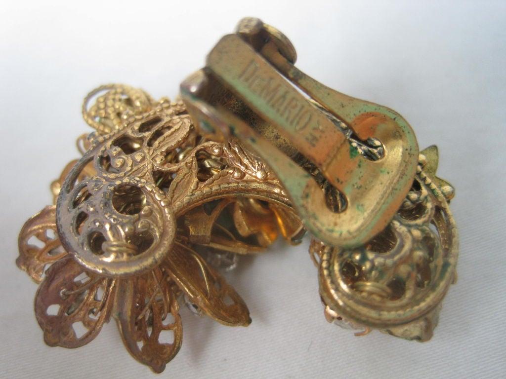 DeMario Rhinestone Filigree Earrings 5