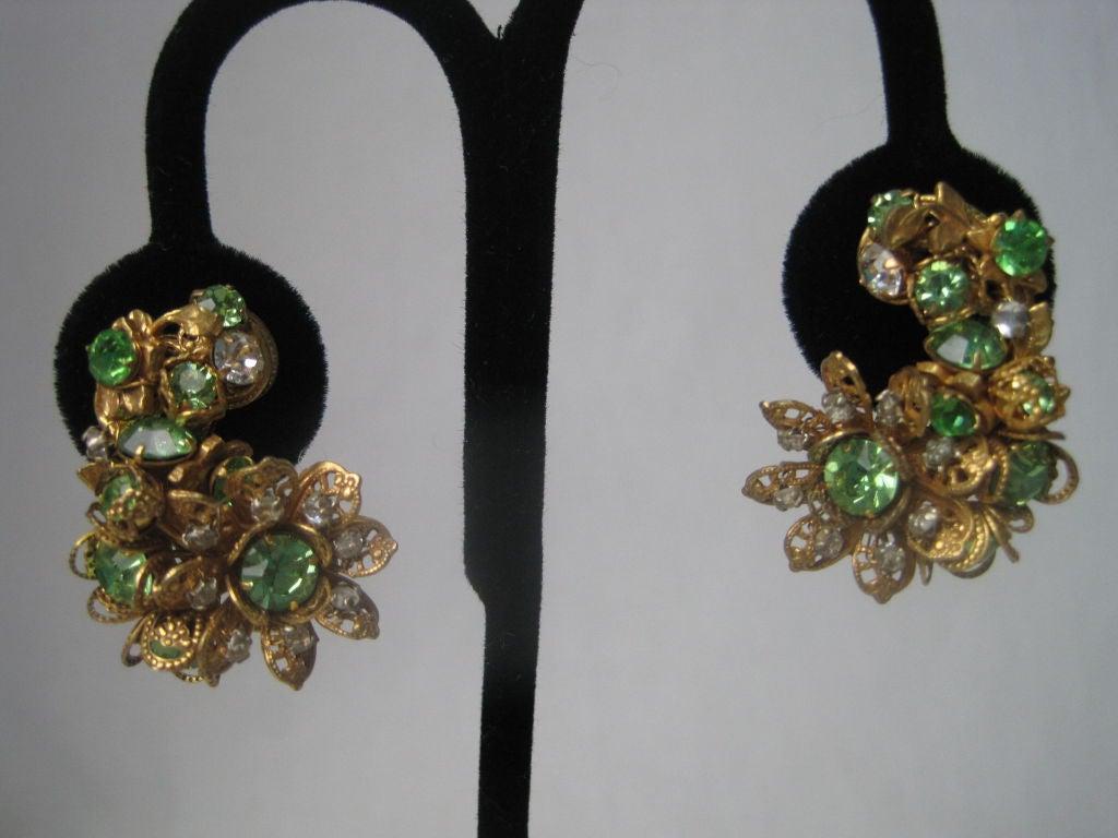 DeMario Rhinestone Filigree Earrings 6