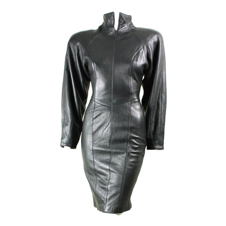 Michael Hoban For North Beach Leather Mini Dress At 1stdibs