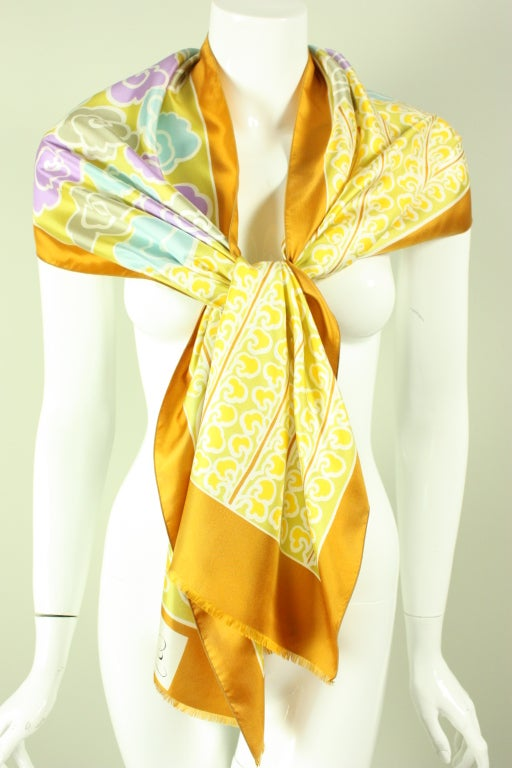 Jacques Esterel Printed Silk Scarf 2