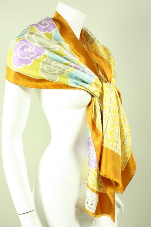Jacques Esterel Printed Silk Scarf 3