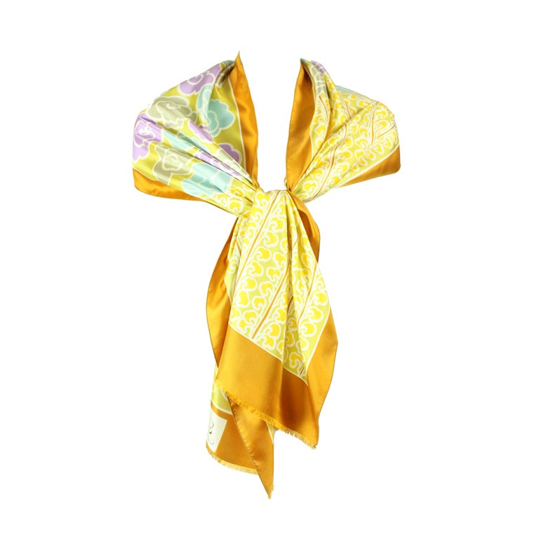 Jacques Esterel Printed Silk Scarf 1