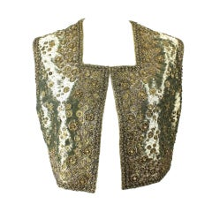 Joanna Mastroianni Beaded Gold Vest