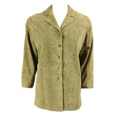Alaia Perforated Suede Jacket