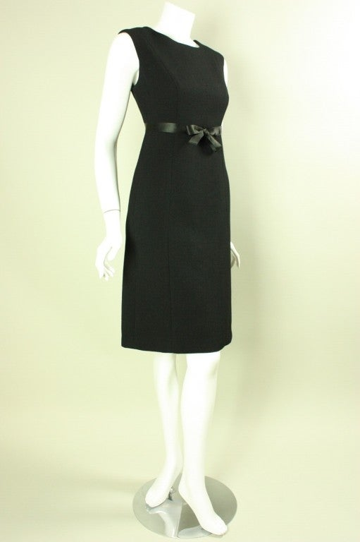 Gray 1960's Gustave Tassell Black Shift Dress For Sale