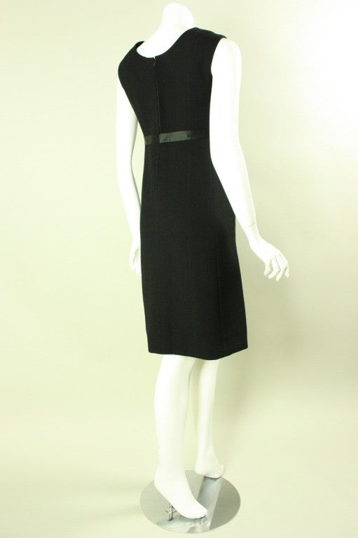 1960's Gustave Tassell Black Shift Dress In Excellent Condition For Sale In Los Angeles, CA