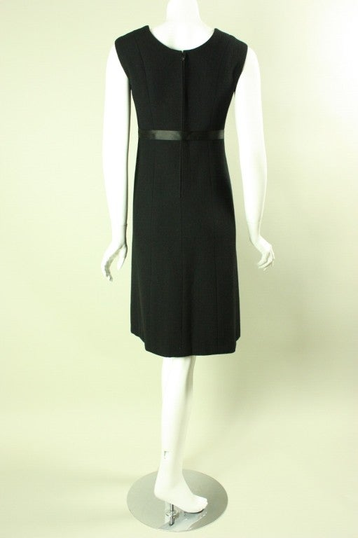 Women's 1960's Gustave Tassell Black Shift Dress For Sale
