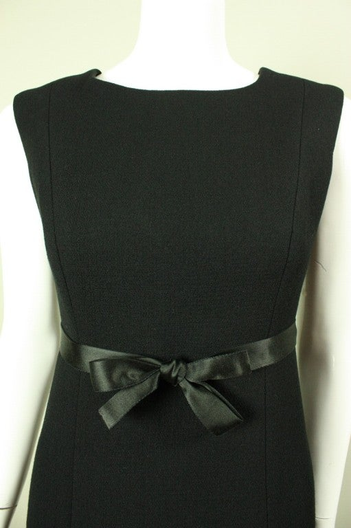 1960's Gustave Tassell Black Shift Dress For Sale 1