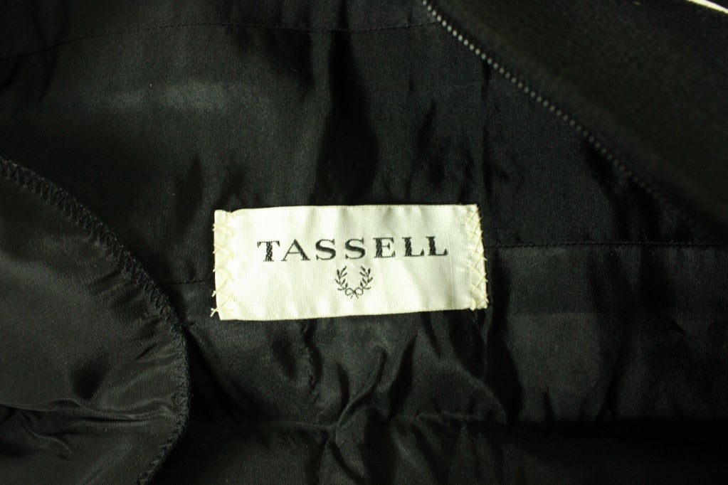 1960's Gustave Tassell Black Shift Dress For Sale 2