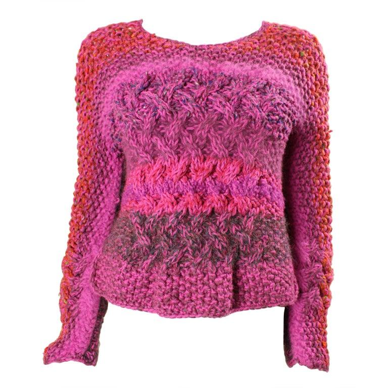 Joan Vass Hand-Knit Sweater at 1stdibs