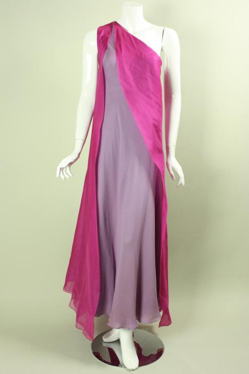 Stavropoulos Layered Silk Evening Gown image 2