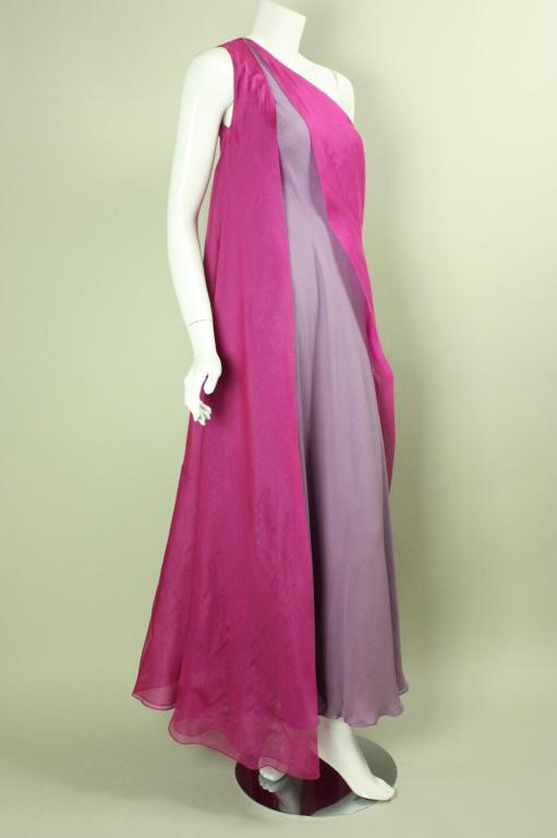 Stavropoulos Layered Silk Evening Gown image 3
