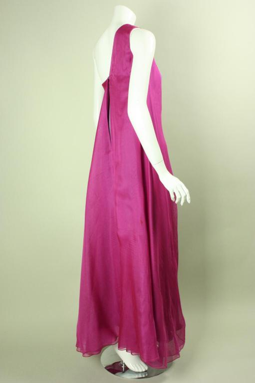 Stavropoulos Layered Silk Evening Gown image 4