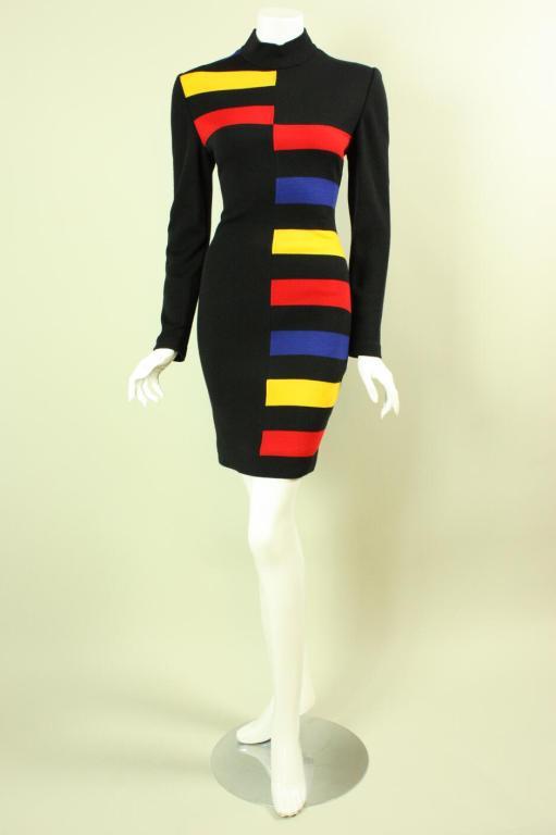 Patrick Kelly Color-Blocked Knit Dress 2