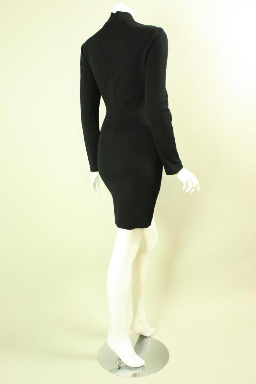 Patrick Kelly Color-Blocked Knit Dress In Excellent Condition For Sale In Los Angeles, CA