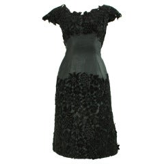 1950's Maxwell Shieff Appliqued Cocktail Dress