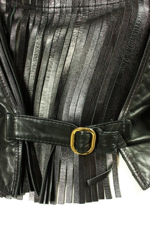 Gianfranco Ferre Leather Jacket with Slashed Back 5