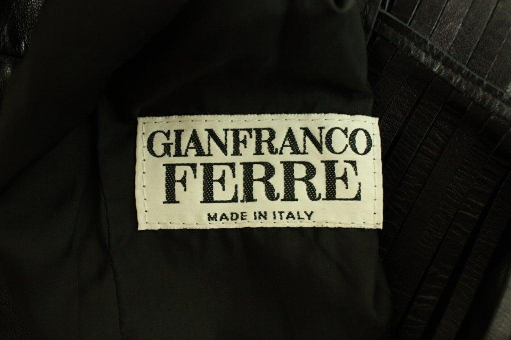 Gianfranco Ferre Leather Jacket with Slashed Back 8