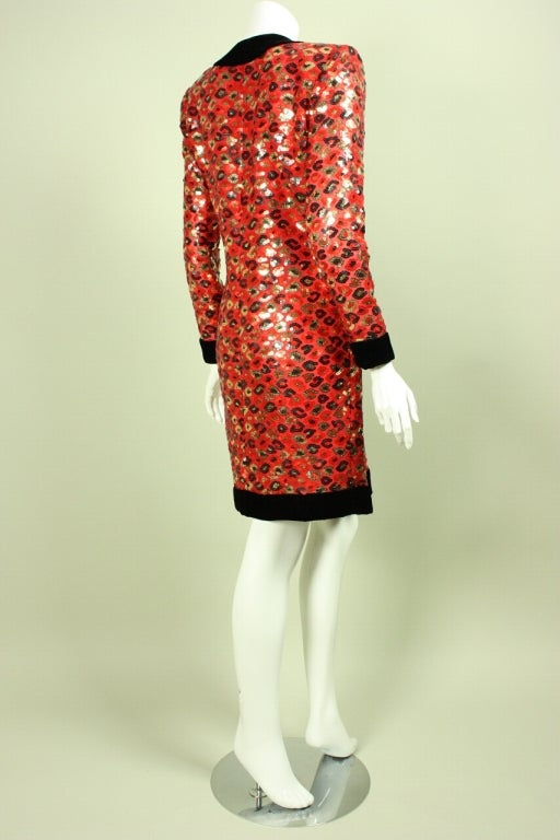 1980's Givenchy Sequined Cocktail Dress 4