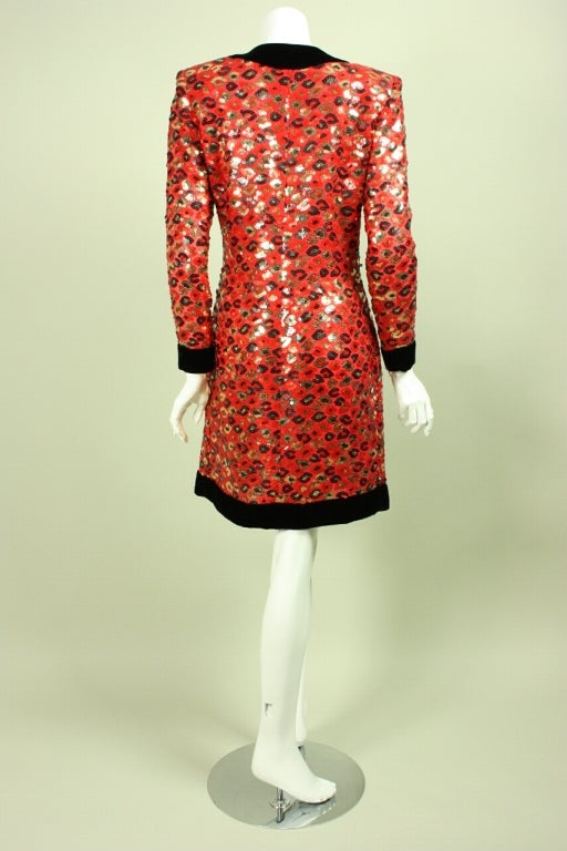 1980 S Givenchy Sequined Cocktail Dress For Sale At 1stdibs