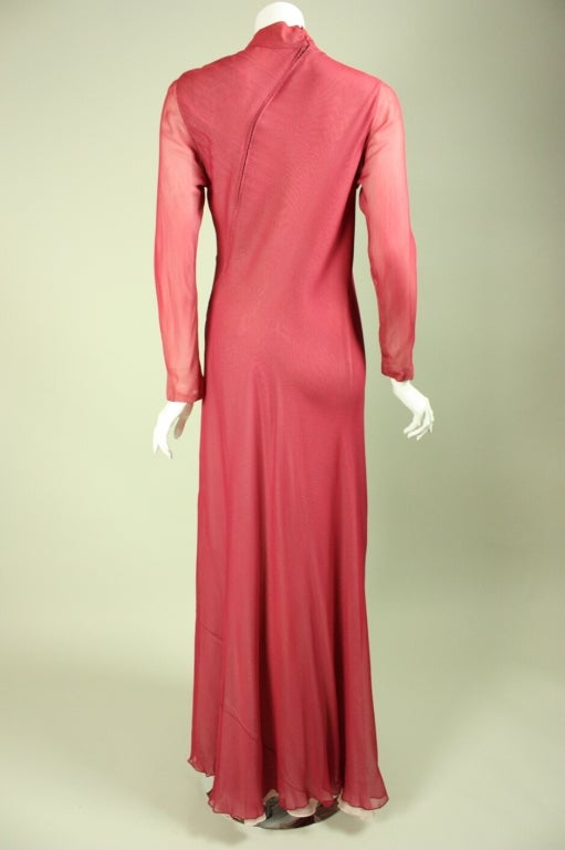 Stavropoulos Silk Evening Gown 9