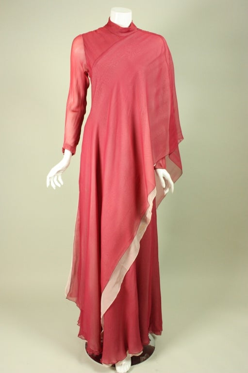 Stavropoulos Silk Evening Gown 2